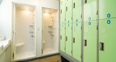 更衣室・シャワー完備